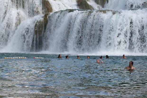 Krka vattenfallsbad
