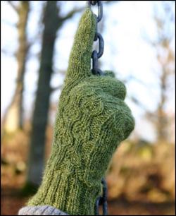 Gröna fingervantar