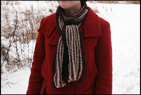 Långrandig scarf