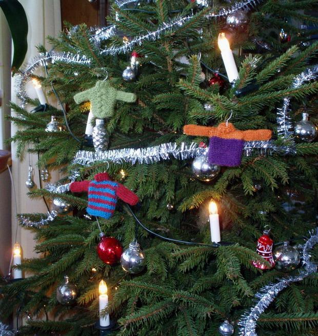 Minitröjor till julgranen