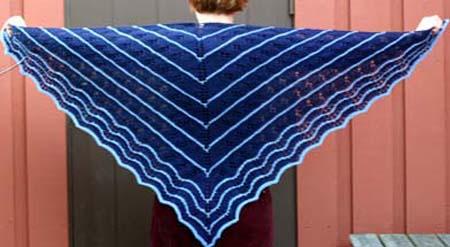 Blå trekantssjal