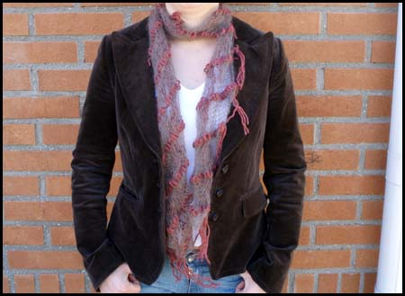 Scribble lace scarf